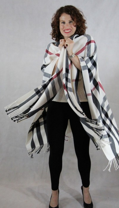 Plaid womens wrap