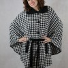 Houndstooth, belted women's cape