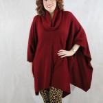 Cheyenne Knitted Poncho - Vino