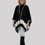 Stephy women's wrap with wide band and stitched edging